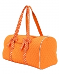 Quilted Solid Large Duffle Bag