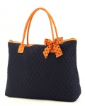 Quilted Solid Large Tote