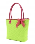 Quilted Solid Medium Tote