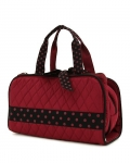 Quilted Solid 3PC Cosmetic Bag