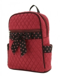 Quilted Solid Medium Zippered Backpack