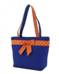Quilted Solid Bucket Tote Bag
