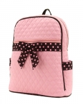 Quilted Solid Large Zippered Backpack